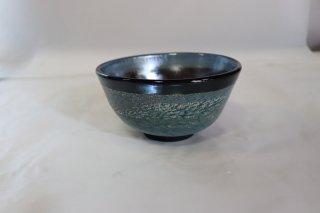 茶道具 <span>( 硬質硝子 )</span> 耐熱吹きガラス 抹茶碗 「熔彩変抹茶碗」