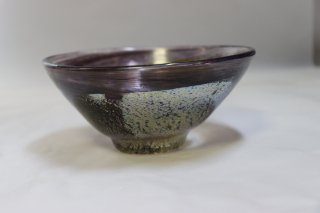 茶道具 <span>( 硬質硝子 )</span> 吹きガラス お抹茶平茶碗