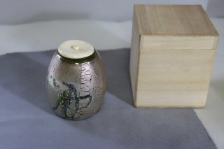 茶道具 <span>( 硬質硝子 )</span> 銀彩 茶入れ
