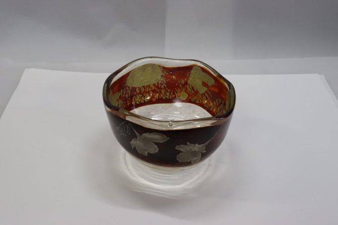 耐熱ガラス熔彩抹茶碗(蒔絵桜)【画像4】