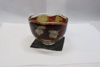 耐熱ガラス熔彩抹茶碗(蒔絵桜)