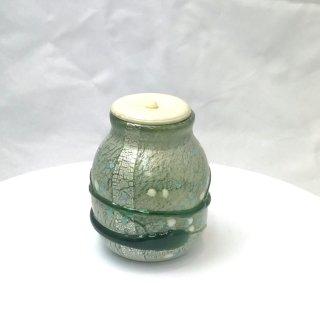 茶道具 <span>( 硬質硝子 )</span> 茶入れ(銀箔彩春雪)