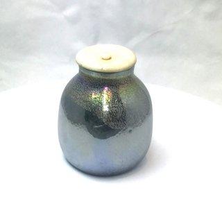 茶道具 <span>( 硬質硝子 )</span> 窯彩変角茶入れ