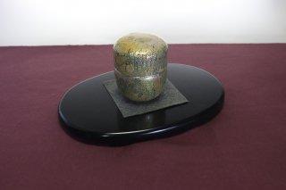 茶道具 <span>( 硬質硝子 )</span> 銀箔斑紋棗