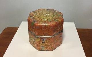 工芸ガラス 手吹きガラス 金彩飾筥「茜音」
