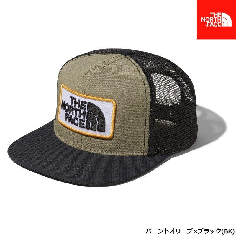 ノースフェイス トラッカーメッシュキャップ(キッズ)バーントオリーブ×ブラック サイズ (KM KL) 帽子 NNJ01912