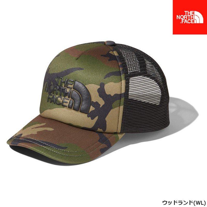 ノースフェイス ロゴメッシュキャップ(キッズ) ウッドランド 迷彩 サイズ (KM KL) 帽子 NNJ01911