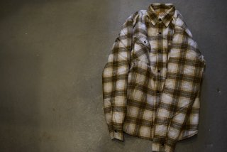 SD Quilted Print Flannel Check Shirt Jacket(BRN×YEL)