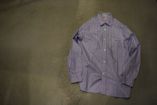 standard california SD Thomas Mason Fabric Traditional Shirt(BLUE)