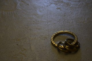 Button Works × SD Solid Brass Key Ring