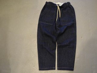 GO WEST / BAKERS BANQUET PANTS/Washed Loose Drill Denim