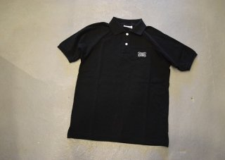 standard california / SD Giza Cotton Shield Logo Polo Shirt(BLACK)