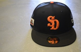 standard california / NEW ERA × SD 59 FIFTY Logo Mesh Cap(BLACK)