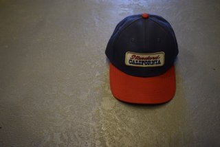 standard california / SD Logo Patch Canvas Cap(NAVY/RED)