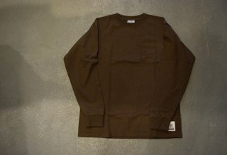 standard california / SD Heavyweight Pocket Long Sleeve T(BROWN)