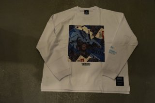 """luzesombra / DR76 """"Dios"""" big silhouette long tee(WHT)"""
