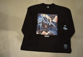 """luzesombra / DR76 """"Dios"""" big silhouette long tee(BLK)"""
