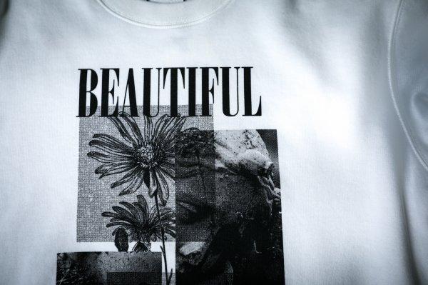 """【 70%OFF 】""""BEAUTIFUL SCARS"""" light sweat WHITE"""