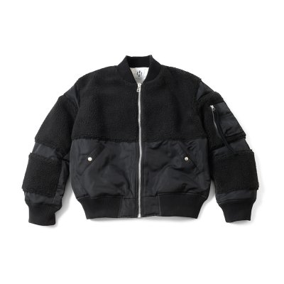 "【 50%OFF 】""THE BLACK SHEEP"" MA-1 Jacket Black x Black"