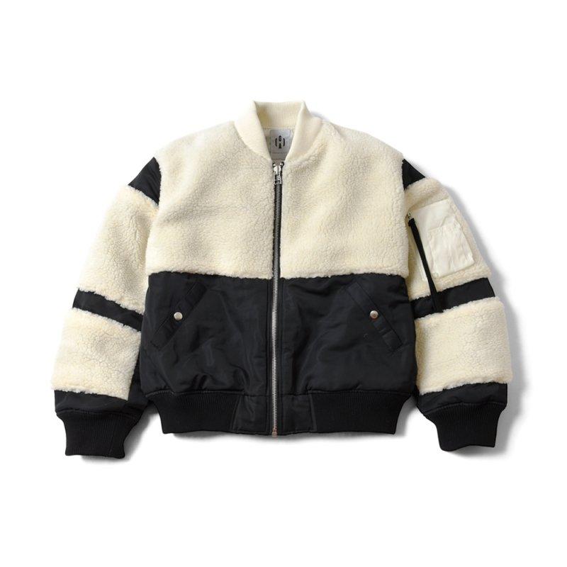 "【 70%OFF 】""THE BLACK SHEEP"" MA-1 Jacket Black x Ivory"
