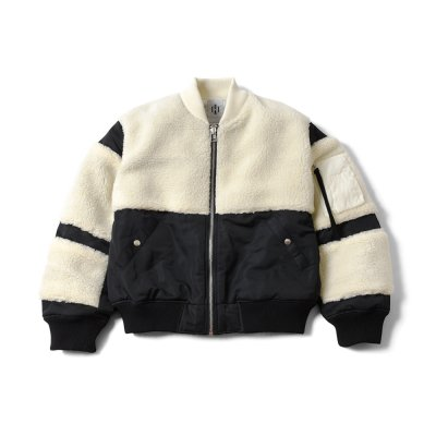 "【 50%OFF 】""THE BLACK SHEEP"" MA-1 Jacket Black x Ivory"