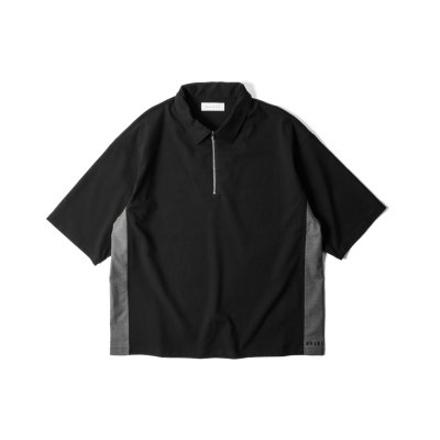 """FREE WILL"" Half Zip Pullover BLACK"