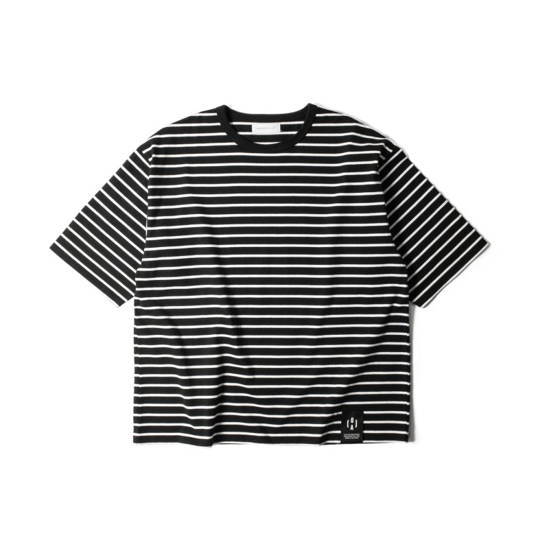 "【 30%OFF 】""NU:STANDARD"" Border Big T-Shirt BLACK"
