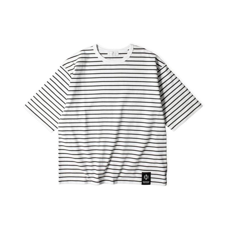 """NU:STANDARD"" Border Big T-Shirt WHITE"
