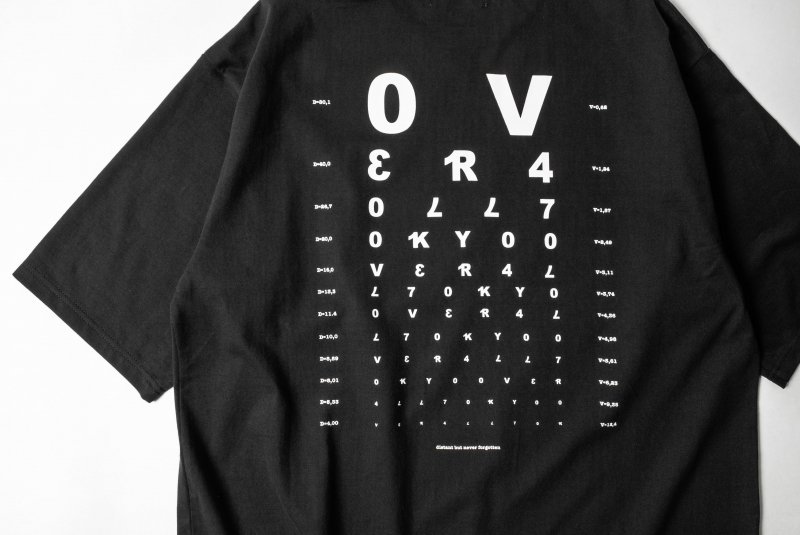 """VISION"" Print Big T-Shirt BLACK"