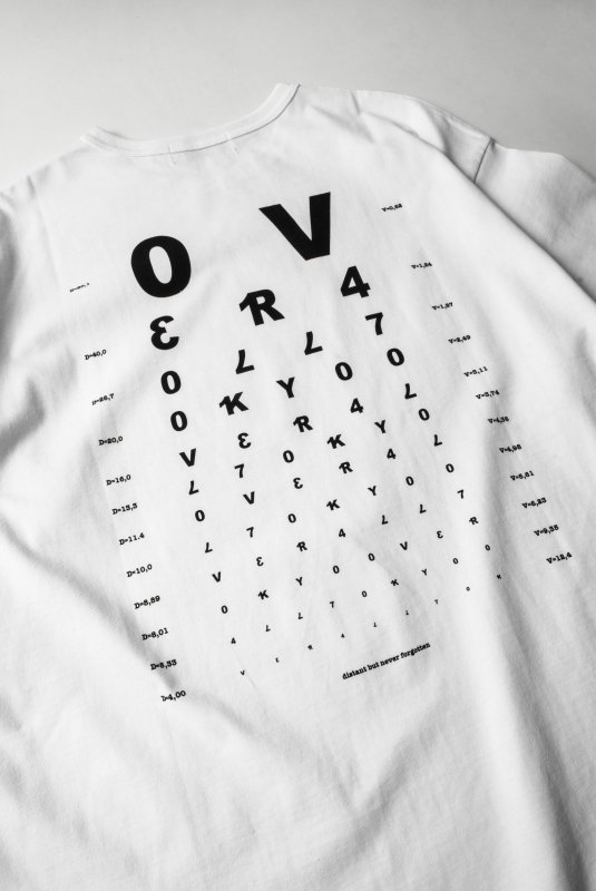 """VISION"" Print Big T-Shirt WHITE"