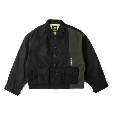 """HUMANITY"" Oversize Jacket  BLACK"