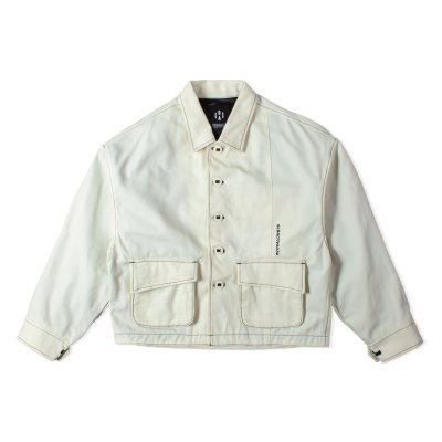 """HUMANITY"" Oversize Jacket WHITE"