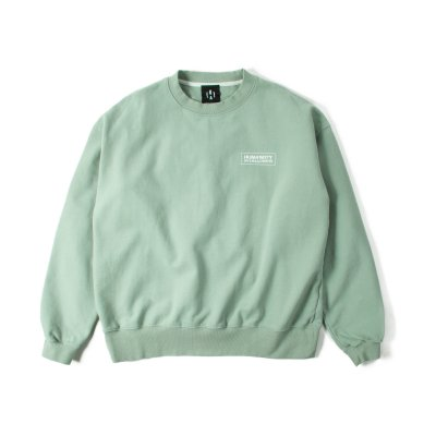 """HUMANITY"" Oversize Sweat GRAY BLUE"