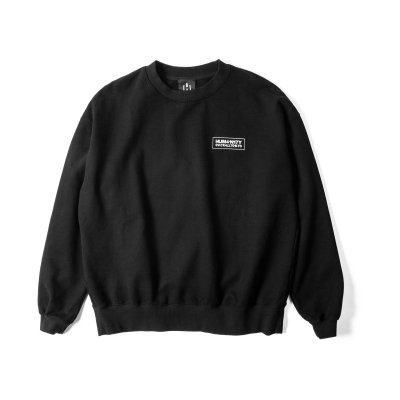 """HUMANITY"" Oversize Sweat BLACK"