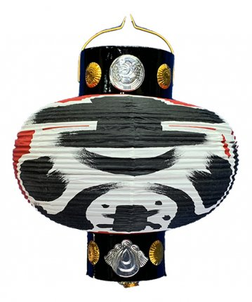かぶら型提灯(和紙)八寸カンス(φ23×25cm)