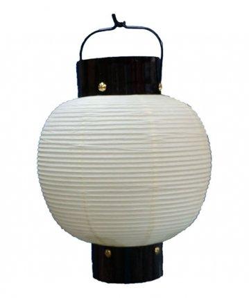 弓張型提灯(和紙)八寸丸(φ24×42cm)
