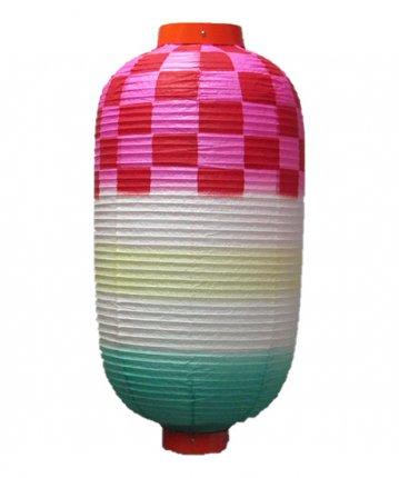 特殊型提灯(和紙)二長市松(φ33×60cm)