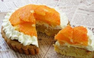 【季節限定】ブラッドオレンジ生タルト 大サイズ 直径18cm(店舗受け取りのみ、配送不可)