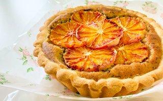 【季節限定】ブラッドオレンジ焼きタルト 小サイズ 直径15cm
