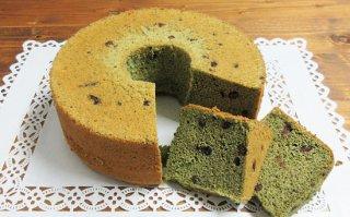 【季節限定】よもぎとあずきのシフォンケーキ 小サイズ 直径14cm