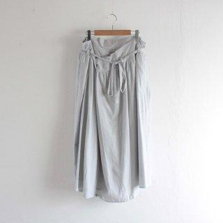 WOMEN  ゴーシュ  G204-S041  コットンウールビエラ ラップギャザースカート  (LIGHT BLUE)
