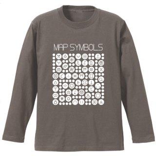 地図記号長袖Tシャツ
