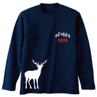 白鹿 長袖Tシャツ