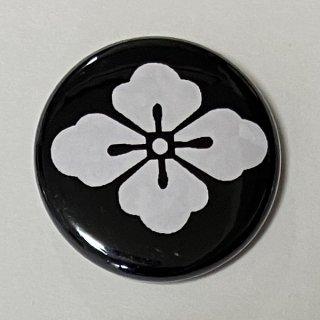 花菱 (黒) 缶バッチ