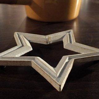 キャストアイアン スタートリベット(星型)なべ敷き CAST IRON STAR TRIVET