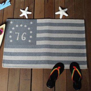 76星条旗 ベニントンフラッグ柄 フロアマット