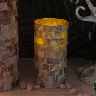 シェル LED キャンドル Mサイズ COQUILLAGE SHELL LED CANDLE SEASHORE