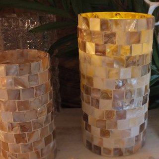シェル LED キャンドル Lサイズ COQUILLAGE SHELL LED CANDLE SEASHORE