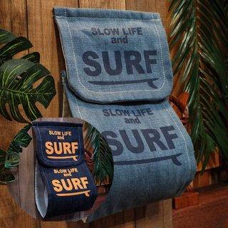 デニムトイレットペーパーホルダーカバー サーフ SLOW LIFE and SURF