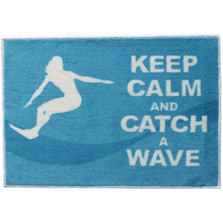 インテリアマット キャッチ ア ウェーブ KEEP CALM&CATCH A WAVE